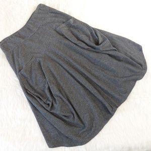 Garnet Hill Lagenlook French Terry Gray Skirt